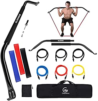 Glemme Bow Portable Home Gym Resistance Bands Fitness Equipment System with Bow Resistance Band Set Weightlifting Training Kit Full Body Workout Equipment