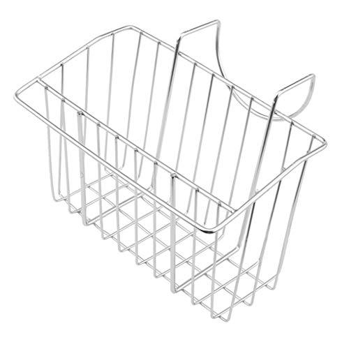 Fenteer Porte-éponge de Cuisine en Acier Inoxydable Porte-Savon pour évier Organisateur de Caddy pour évier - Argent, B