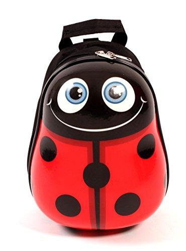 Bouncie Kinder-Rucksack Marienkäfer, geeignet für die Kinderkrippe, 30 cm groß, rot