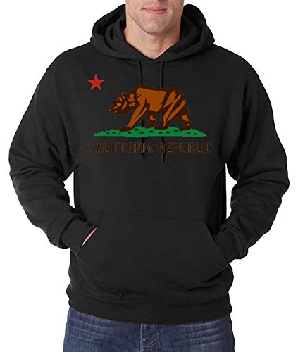 Youth Designz Sudadera con capucha para hombre, modelo California Republic Negro L