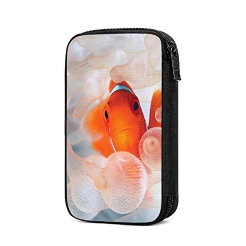 Data Storage Bag Clown Fish Ocean Underwater World Electronic Accessories Organizer, Travel Gadget Bag for Cables, USB Flash Drive, Plug and More