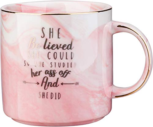 She Believes She Could So She Did Mug -Graduation and Congratulations Gifts for Her-12 OZ Coffee Tea Cups,Christmas Presents for College Nurse Graduated Women
