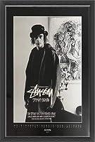 ポスター ステューシー ステューシー20th Anniversary プリント11 額装品 ウッドベーシックフレーム(ブラック)