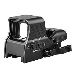 in budget affordable MidTen 1X22X32 Red Green Dot Visor 4 Reticle Reflex Visor Quick Coupling 20mm Rail