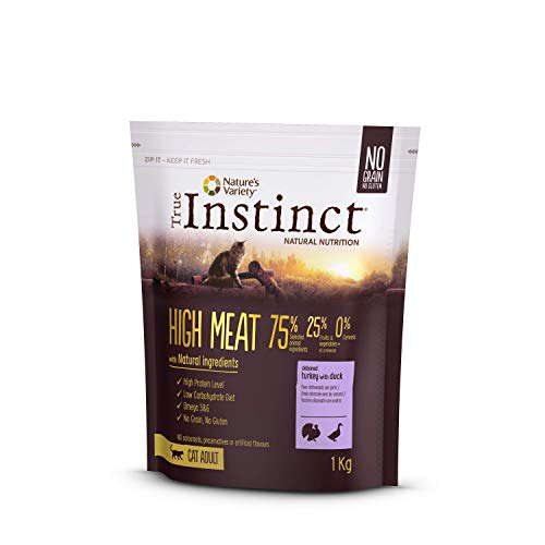 True Instinct High Meat Adult - Pienso para gato adulto con pavo deshuesado 1kg