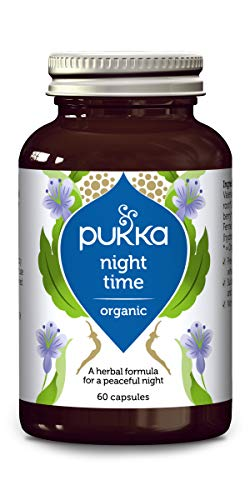 Pukka Night Time, Organic Herbal Supplement, with Valerian, Ashwagandha and Gota Kola, For a Restful Night, Wake Refreshed (60 capsules)