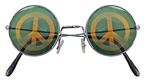 Peace Brille Hologramm für Hippie Kostüm - Tolles Accessoire zu Karneval oder Mottoparty