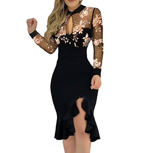 SmallYin Damen Kleid Sexy Abendkleid,Taille Schlankes äRmelloses Hosenträ GerSpitze NäHen A-LinieRock,Mode Solid Color Slim Fit Minikleid Mit V-Ausschnitt,FrüHling Summer