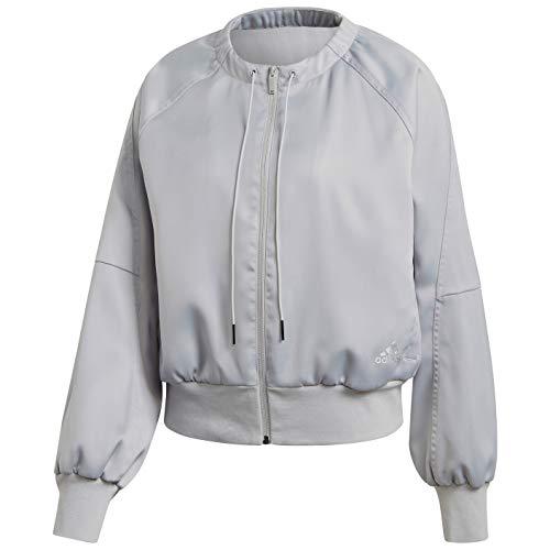 adidas Women's Glam On Bomber Jacket, Grey, XL