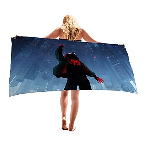 LIYIMING Toalla de playa de Spider-Man, extragrande, microfibra, muy absorbente, de secado rápido, sin arena, para piscina (08,75 x 150 cm)