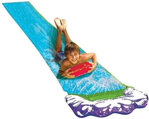 Tobogán gigante de agua del césped inflable individual Silp Slide Play Center Water Slide pulverización y Crash Pad for los niños de los niños del verano del patio trasero Piscina Sala de juegos al ai