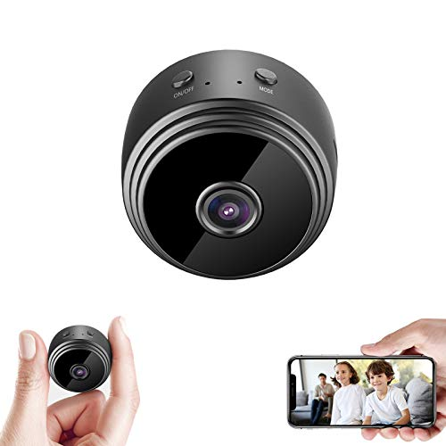 32GB Mini HD 1080P Wireless Hidden Camera,Home WiFi Remote Security Cameras,Smart Motion Detection ,Instant Push Notifications, Remote Playback,Magnetic Feature,Night Vision Spy Camera,by HZTCAM