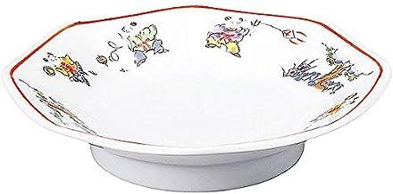 RAMEN STYLE 色絵唐子 八角高台19cm皿 中華食器・アジアン食器 チャーハン皿 日本製 業務用 63-9-210-18