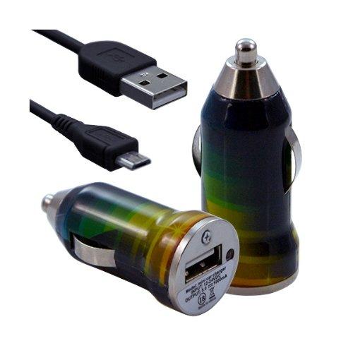 Seluxion–Cargador de coche mechero USB con cable Data CV06para LG: BL20newchocolate/BL40newchocolate/C100/C360/C550Optimus Chat/D802G2/D821Google Nexus 5/E400Optimus L3/E430Optimus L3II/E460Optimus L5II/E610Optimus L5/