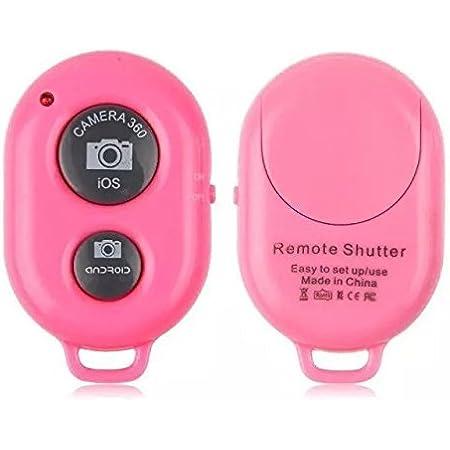 GOCOUP スマートフォン用 カメラリモコン A-Bシャッター Bluetoothリモートfor iPhone & Android 日本語説明書付き(ピンク)