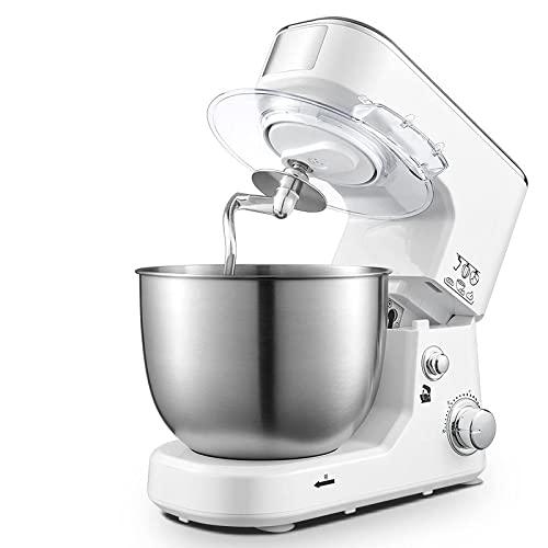 MOSHUO Máquina amasadora de 5 litros amasadora automática doméstica máquina de Chef multifunción pequeña batidora de Crema Blanca