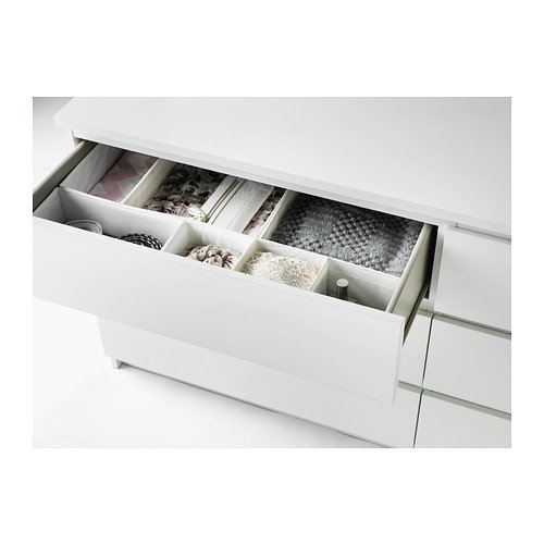 IKEA(イケア) MALM ホワイト 30214556 チェスト(引き出し×6)、ホワイト