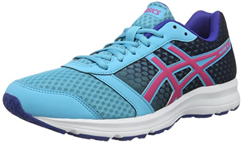 Asics Patriot 8 W, Zapatillas De Running Mujer, Multicolor (Aquarium/Sport Pink/Deep Blue), 36 EU