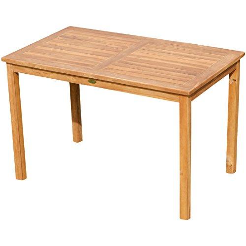 ASS Echt Teak Holztisch 120x70cm Gartenmöbel Gartentisch Garten Tisch Holz sehr robust Alpen
