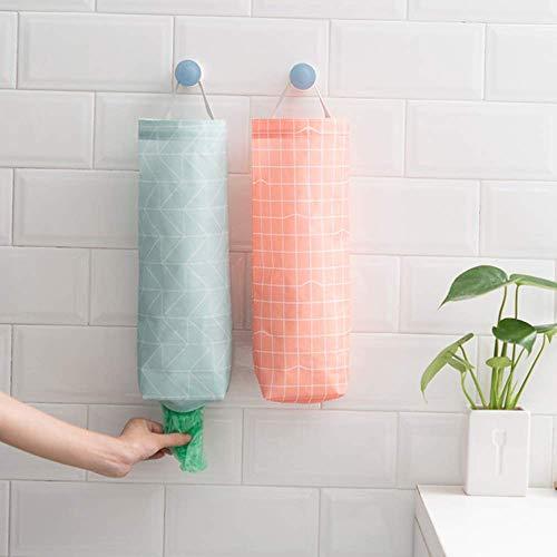 AKAZA 2Pcs Plastic Bag Holder Waterproof Wall Mount Grocery Bag Dispenser Garbage Bag Organizer Plastic Bag Holder and Dispenser