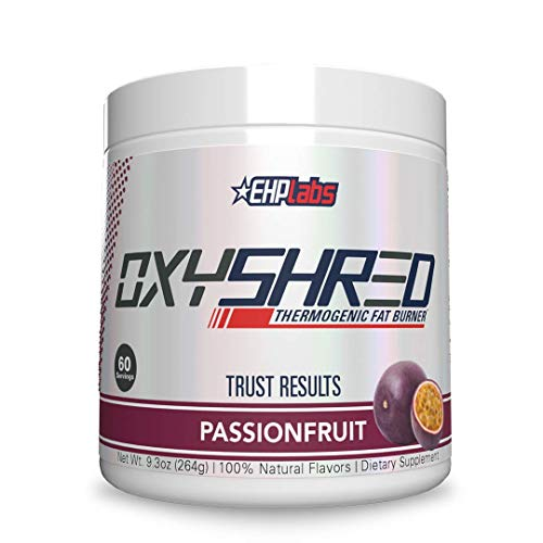 OxyShred Thermogenic Fat Burner by EHPlabs - Weight Loss Supplement, Energy Booster, Pre-Workout, Metabolism Booster (PassionFruit)