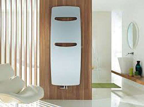 Zehnder vitalo Design radiator VIT-150-060, 1500x590 mm, uitvoering in zaagsnede, met centrale aansluiting, Badkamerradiatoren: Wit RAL 9016 - ZV200459B100000