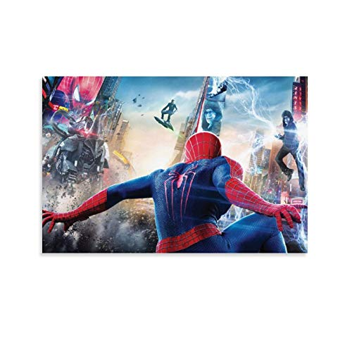 DRAGON VINES Movie The Amazing Spider-man 2 Peter Parker Vs. Green Goblin Electro Rhino - Lienzo enmarcado (40 x 60 cm)