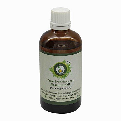 R V Essential Reines Weihrauch Ätherische Öl 100ml (3.38 Unzen) - Boswellia Carterii (100% reiner und natürlicher Dampf destilliert) Pure Frankincense Essential Oil