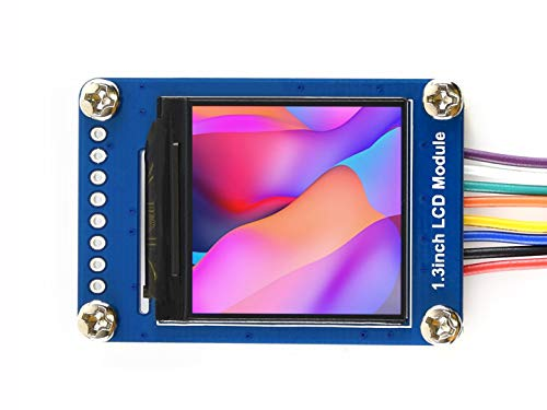 Waveshare 1.3inch LCD Display Module IPS Screen 240x240 ST7789 Driver HD Resolution SPI Interface RGB 65K Color Requires Minimum GPIO 3.3V Support Raspberry Pi/Jetson Nano/Arduino/STM32