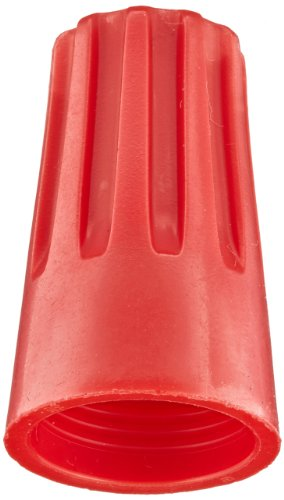 Easy-Twist Twist-On Wire Connector, Standard Type, 22-8 AWG Wire Range, 600V, Red (Large Jar of 350)