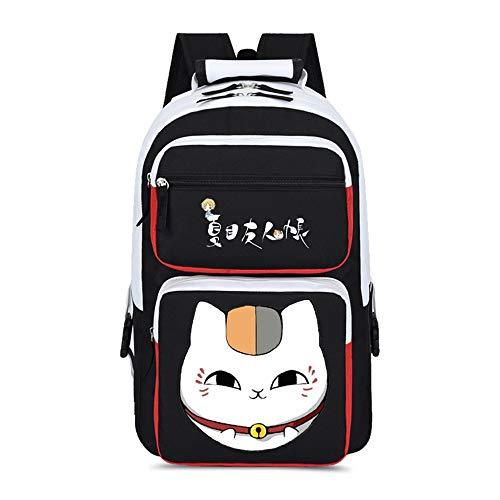 WOONN Mochila Hombre Backpack Niños Y Niñas Adolescentes Mochila Escolar Moda Mochila para Portátil Mochila para Portatil Anime Viaje Negocios Bag Backpack Natsume's Book of Friends