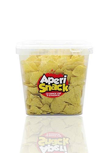 Aperisnack - AP03.008.04 - Nachos Classic Secchiello da 750gr. Snack Salati e Stuzzichini Ideali per l'Aperitivo e Le tue Feste