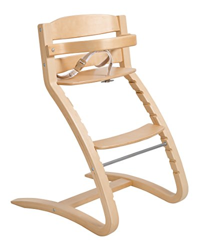 Roba Treppenhochstuhl 'Grow Up', Design Hochstuhl, moderner Holzhochstuhl mitwachsend vom Babyhochstuhl bis zum Jugendstuhl, Holz, natur