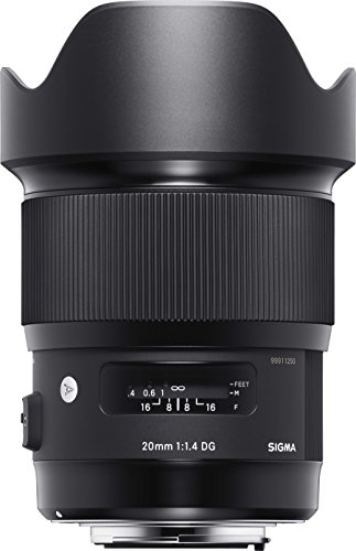 Sigma 20mm F1.4 Art DG HSM Lens for Canon