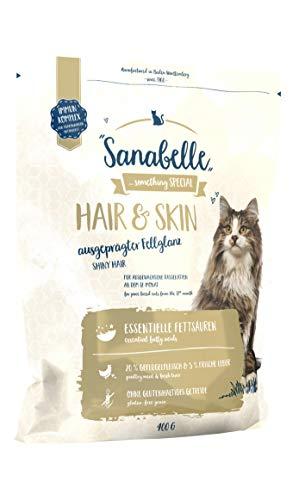 Sanabelle Hair & Skin | Katzentrockenfutter für Rassekatzen zur Unterstützung der optimalen Fellausprägung, 6er Pack (6 x 400 g)