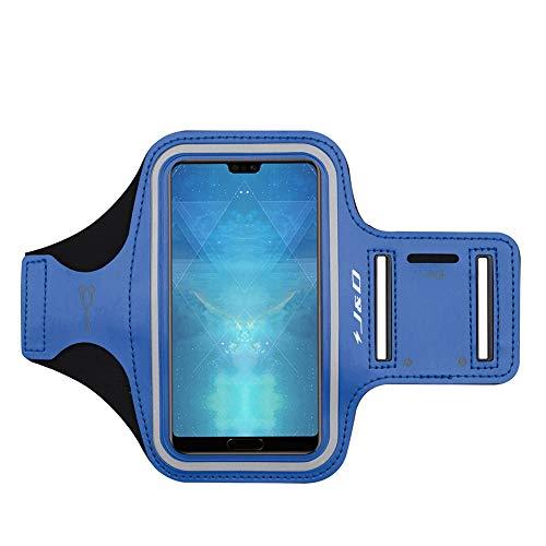 J&D Armband Compatible for Huawei P40/P30/P30 Lite/P20/P20 Lite/P10/P10 Lite Armband, Sports Armband w/Key Holder Slot, Earphone Connection P40 P30 P30 Lite P20 P20 Lite P10 P10 Lite Running Armband