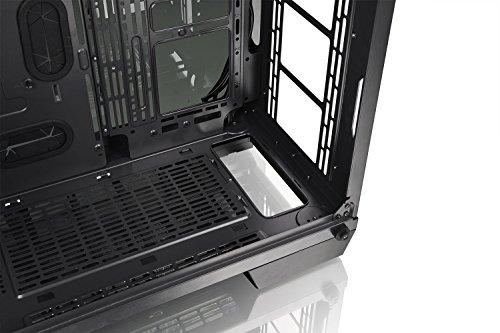 Thermaltake View 71 RGB 4-Sided Tempered Glass Vertical GPU Modular E-ATX Gaming Full Tower Computer Case CA-1I7-00F1WN-01 , Black