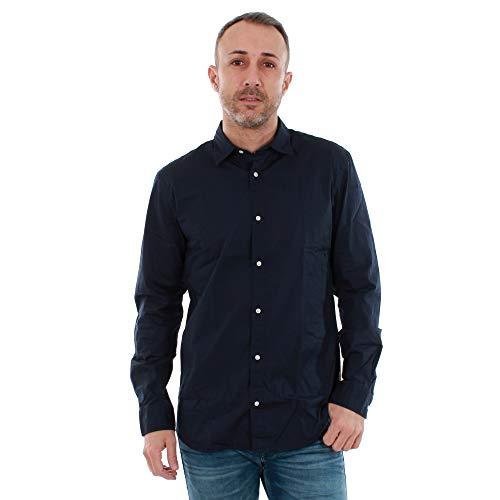 JACK & JONES JACK & JONES Herren JJEPOPLIN Shirt L/S Businesshemd, Blau(Navy BlazerNavy Blazer), Small