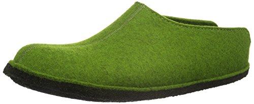 Haflinger Flair Smily Pantoffeln Unisex-Erwachsene, Grün (Grasgrün 36), 44 EU