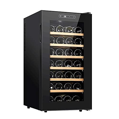 FDSZ Mini gabinete de Vino, gabinete de Vino termoeléctrico Independiente, Barra de Casas refrigerador de Vino Rojo/Blanco, Pantalla Digital, operación silenciosa, 12 Botellas