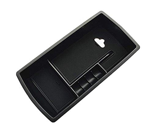Yueng Soporte de Caja de Almacenamiento de apoyabrazos Interior plástico Negro para 1 Paquete de Coche