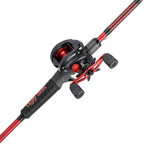 Ugly Stik Carbon Low Profile Baitcast Reel and Fishing Rod Combo