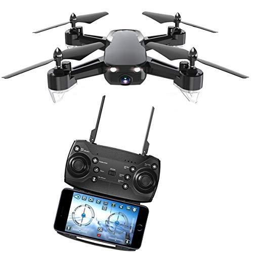 YYD GPS FPV RC Drohne mit HD Kamera 2MP Live Ubertragung Video,Quadrocopter, Helikopter Ferngesteuert mit GPS Navigation, Active Track, Gestensteuerung, Quick Shot, für Kinder und Anfänger