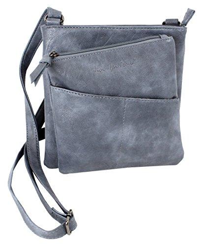 Jennifer Jones Taschen Damen Damentasche Handtasche Schultertasche Umhängetasche Tasche klein Crossbody Bag jeans-blue (3106)