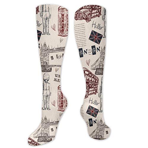 gfhfdjhf Un Conjunto de Flechas Dibujadas a Mano Hipster Calcetines Deportivos Transpirables de Moda Unisex Calcetines absorbentes de Humedad Calcetines Largos de Espesor moderado