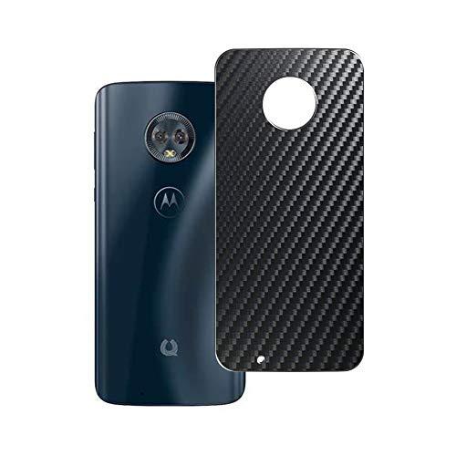 二枚 Sukix 背面保護フィルム 、 Motorola Moto G6 Moto 1S 向けの ブラック カーボン調 TPU 保護フィルム 背面 フィルム スキンシール 背面保護 背面フィルム(非 ガラスフィルム 強化ガラス ガラス ケース カバー ) 修繕版