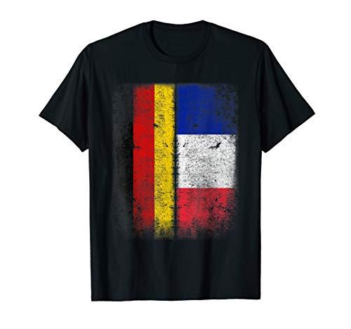 Deutsch-Französische Flagge T-shirt Deutschland Frankreich