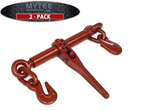 Mytee Products (2 Pack Ratchet Chain Binder 1/4' - 5/16' Chain Binders Tie Down Hauling
