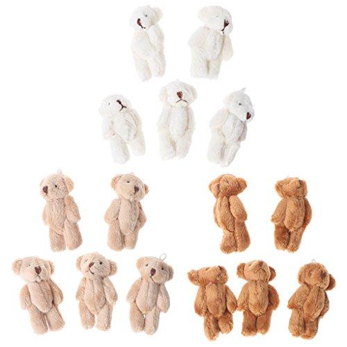 Kleine Bären im Kawaii-Stil, Plüschtier, Perlensamt, Geschenkidee, Mini-Teddybär, 5 Stück braun