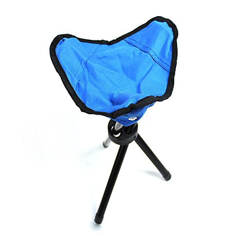 PiscatorZone Tripod Stool,3-Legged Stool, Children Baby Seat Kids Furniture-Foldable, Portable, Canvas Stool for Travel,Camping,Backpacking, Gardening, Fishing, Hiking and Mountaineering (Blue)